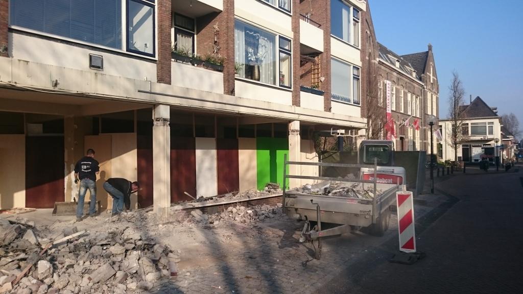 Verbouw winkel tot Rabobank Ulft