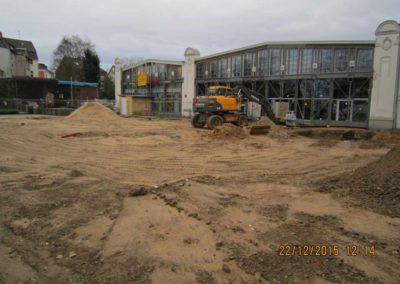 Aanleg binnenriolering en 1700 m2 straatwerk Rewe Mülheim